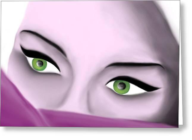 Girl's Eyes Greeting Card by Sara Ponte