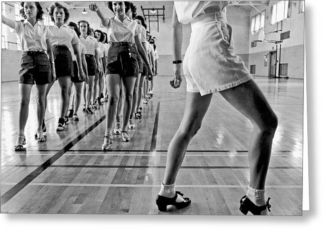Girls In A Tap Dancing Class Greeting Card