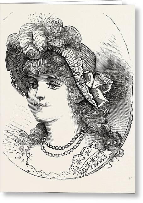 Girls Straw Hat, 1882 Greeting Card