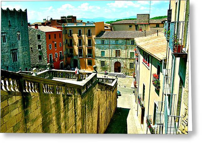Girona Steps Greeting Card by HweeYen Ong