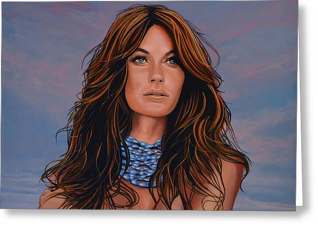 Gisele Bundchen Painting Greeting Card by Paul Meijering