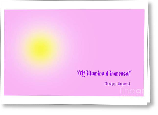 Giuseppe Ungaretti Famous Poem Greeting Card by Enrique Cardenas-elorduy