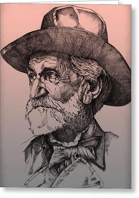 Giuseppe Verdi Greeting Card by Derrick Higgins