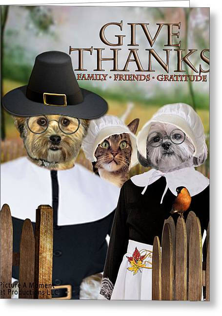 Greeting Card featuring the digital art Give Thanks by Kathy Tarochione