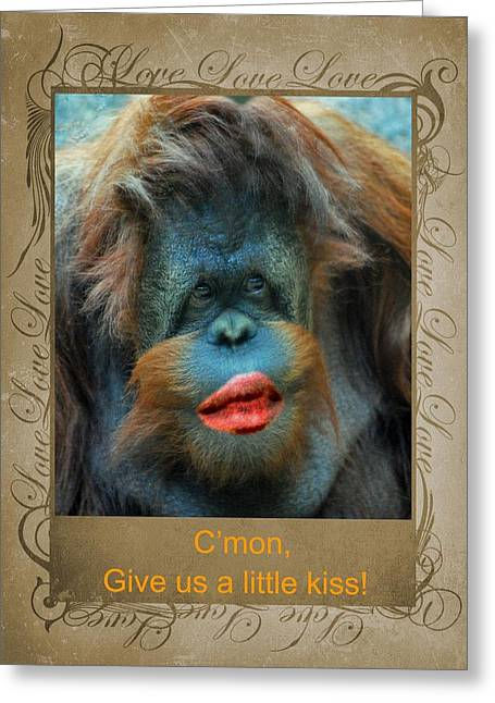 Give Us A Little Kiss Greeting Card