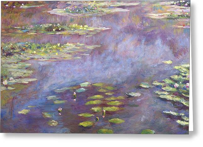 Giverny Nympheas Greeting Card by David Lloyd Glover