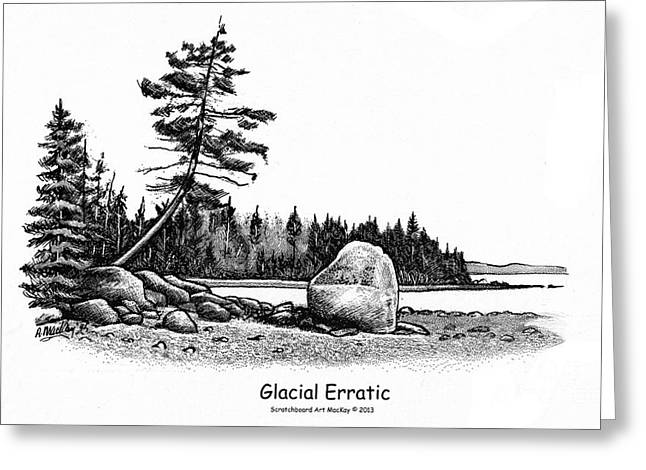 Glacial Erratic Greeting Card