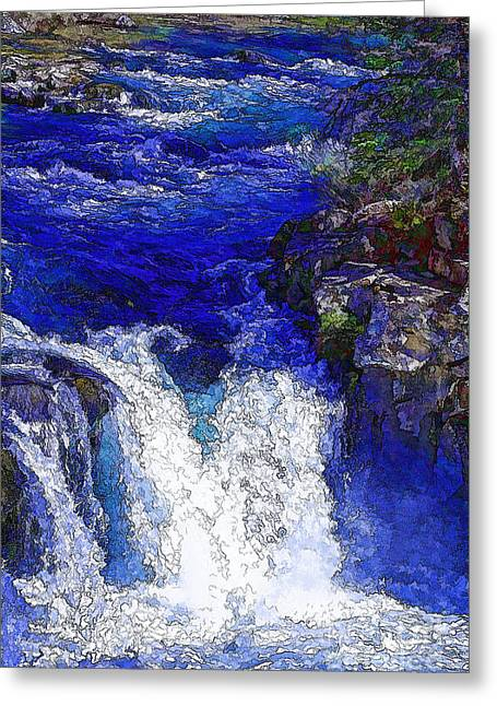 Glacial Flow-2 Greeting Card by Nancy Marie Ricketts