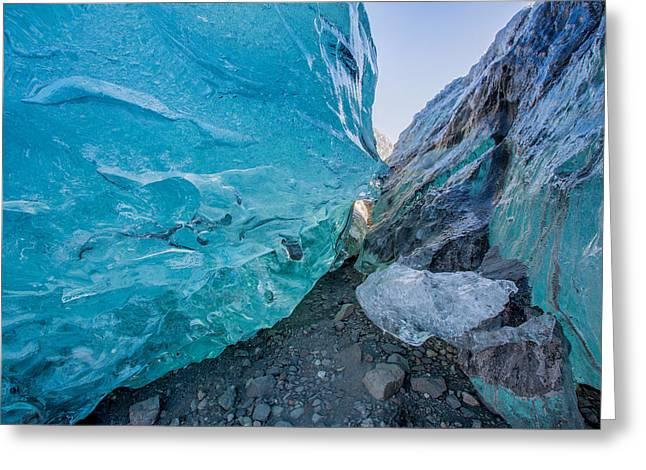 Glacial Ice Cave, Svinafellsjokull Greeting Card