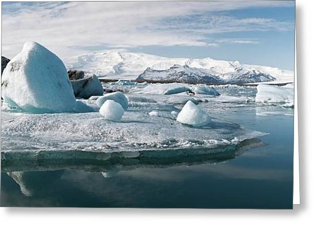 Glacial Lagoon Greeting Card by Jeremy Walker