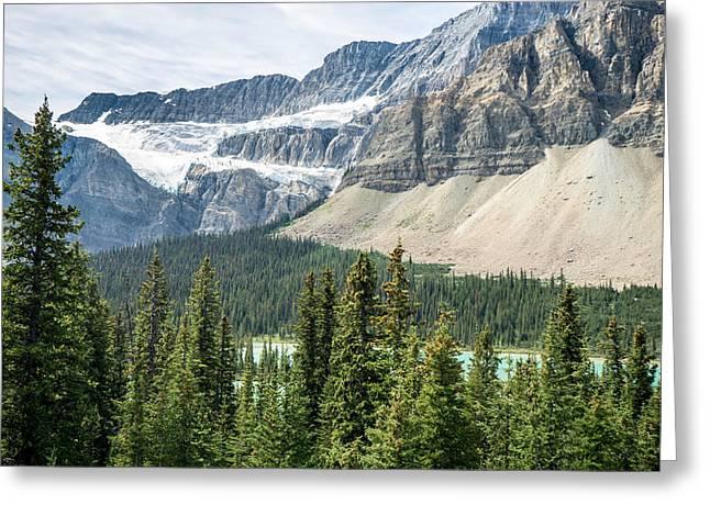 Glacier Alberta Canada Rockies Greeting Card