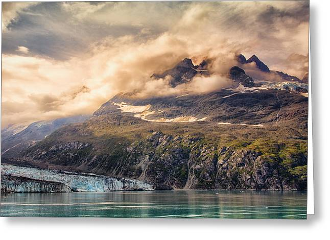 Greeting Card featuring the photograph Glacier And Peaks-glacier Bay National Park by Janis Knight