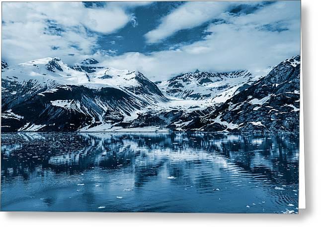 Glacier Bay - Alaska - Landscape - Blue  Greeting Card