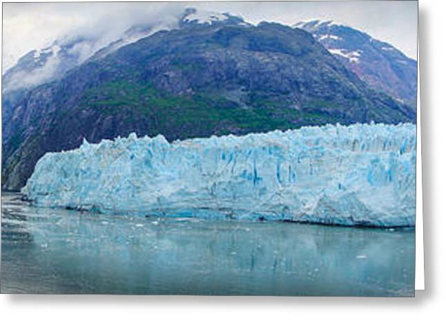 Greeting Card featuring the photograph Glacier Bay Panoramic by Janis Knight
