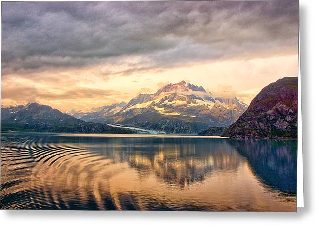 Glacier Bay Reflections Greeting Card by Janis Knight