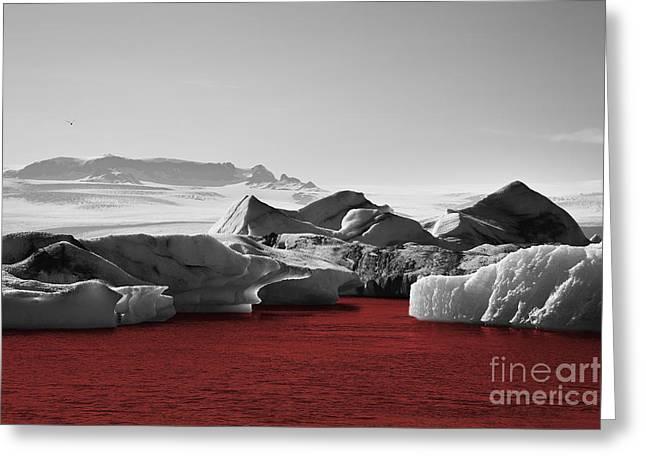Glacier Blood Greeting Card