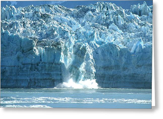 Glacier Calving Greeting Card by Barbara Stellwagen
