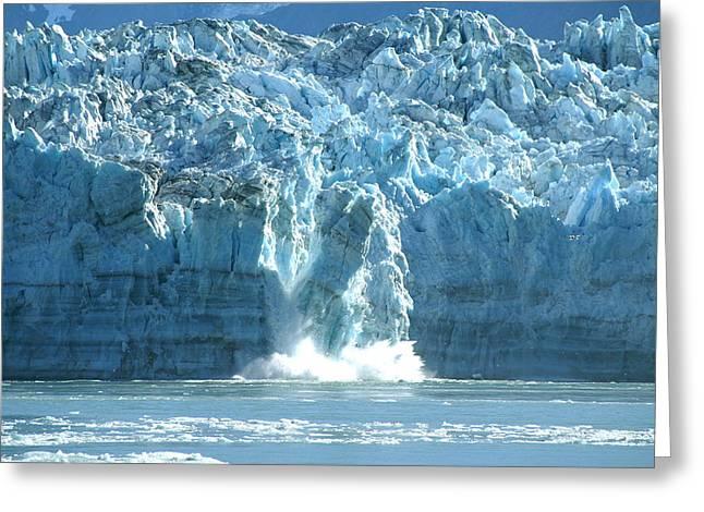 Glacier Calving Greeting Card by Barbara Stellwagen