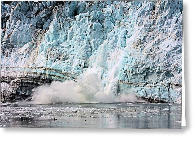 Glacier Calving Margerie Greeting Card by Kristin Elmquist