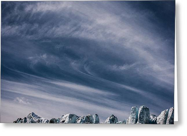 Glacier Clouds Greeting Card by Dayne Reast