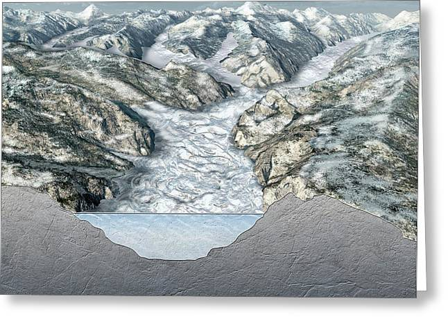 Glacier-filled Kings Canyon Greeting Card by Nicolle R. Fuller