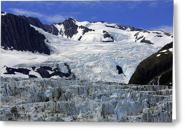 Glacier From Up High Greeting Card