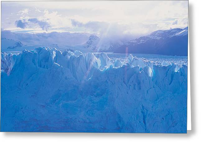 Glacier In A National Park, Moreno Greeting Card by Panoramic Images