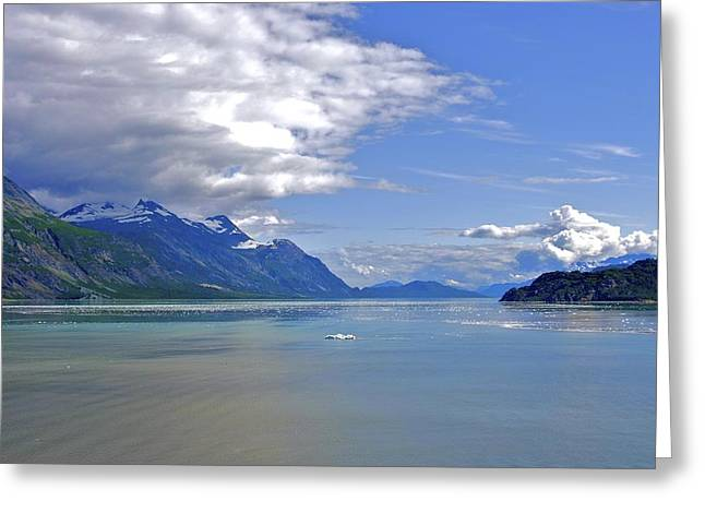 Glacier In Bay  Greeting Card