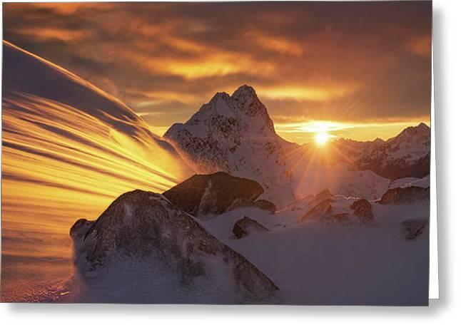 Glacier Light Greeting Card