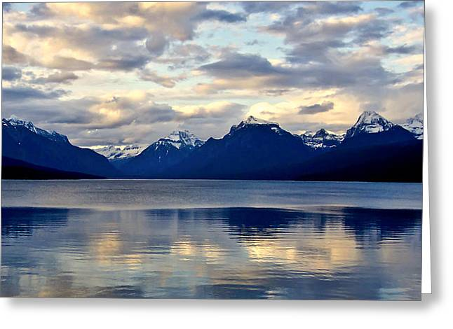 Glacier Morning Greeting Card