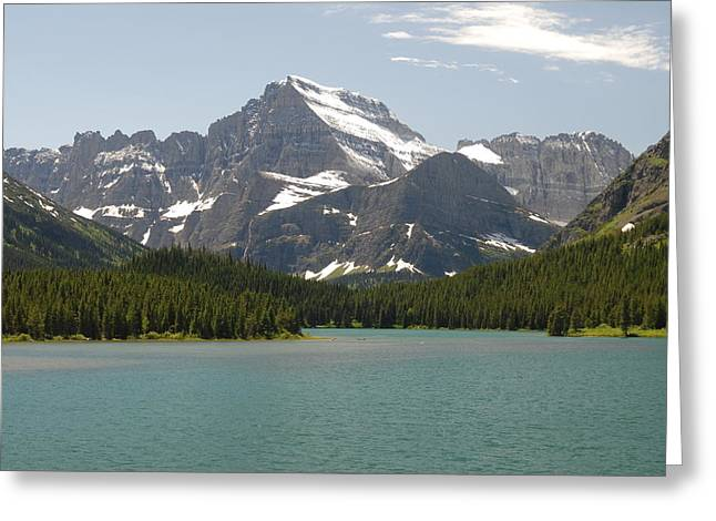Glacier National Park Greeting Card by Larry Moloney