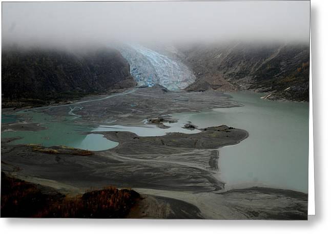 Glacier North Of Juneau Greeting Card by Sarah King