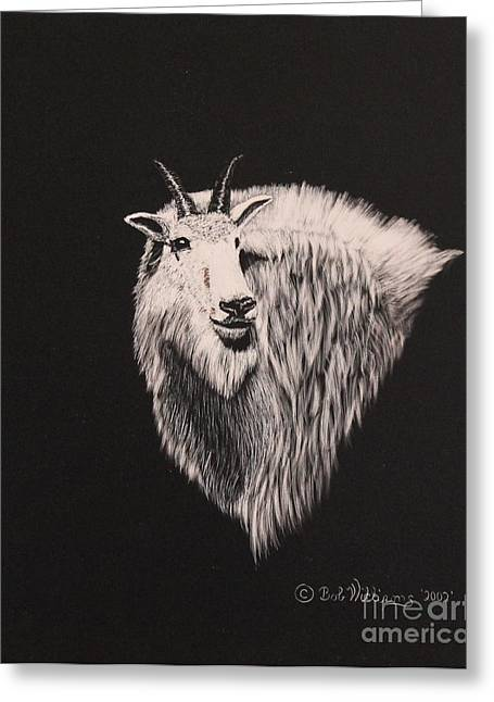 Glacier Park Goat Greeting Card