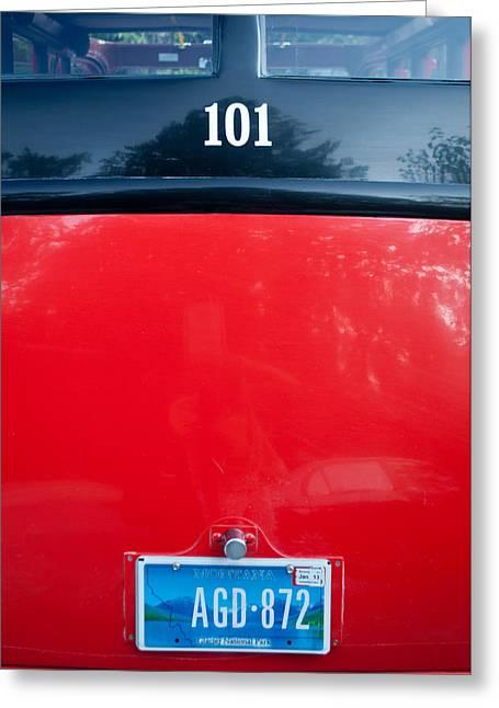 Glacier Red Jammer 101 Greeting Card