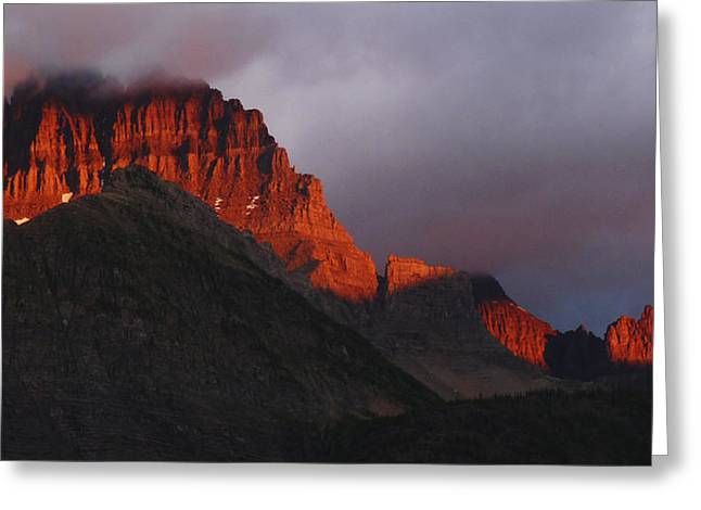 Glacier Sunrise Greeting Card