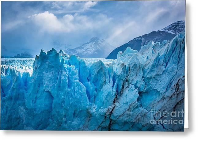 Glacier Symphony Greeting Card