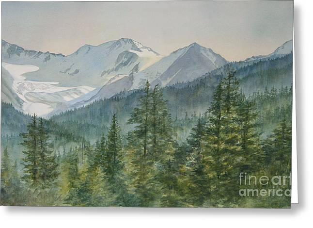 Glacier Valley Morning Sky Greeting Card