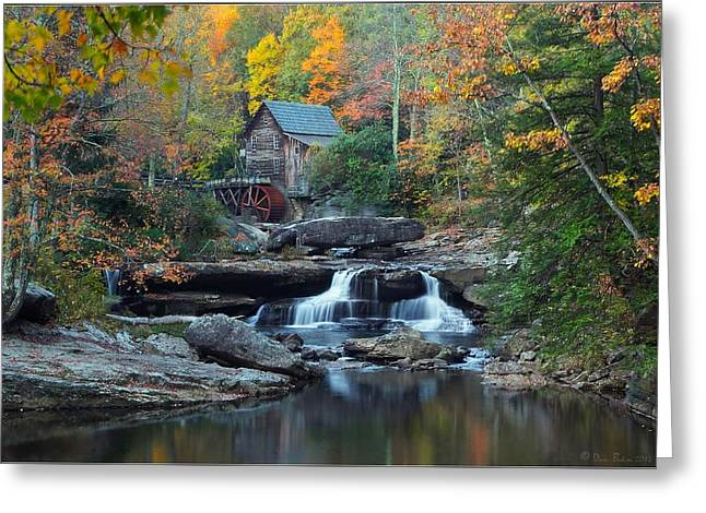 Glade Creek Grist Mill Greeting Card by Daniel Behm