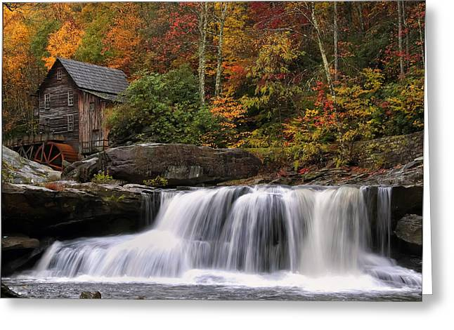 Glade Creek Grist Mill - Photo Greeting Card by Chris Flees