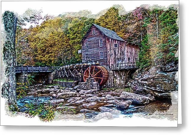 Glade Creek Grist Mill Greeting Card by Randall Branham