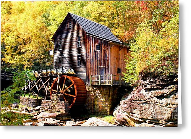 Glade Creek Mill West Virginia Greeting Card by Laurinda Bowling