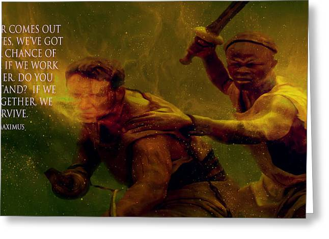 Greeting Card featuring the photograph Gladiator  by Brian Reaves