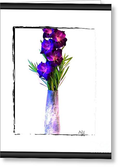 Gladiola Gorgeous Greeting Card by Marsha Heiken