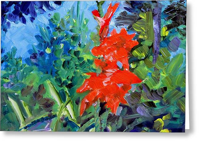 Gladiolus Greeting Card