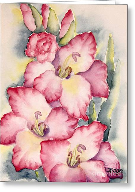 Gladiolus In Pink Greeting Card