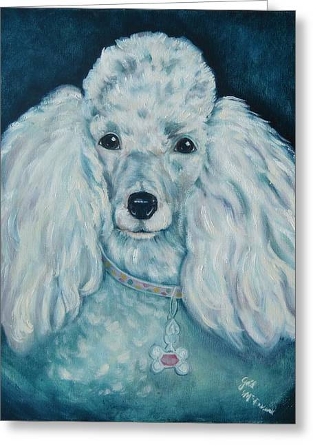 Glamorous Poodle Greeting Card by Gail McFarland