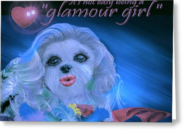 Glamour Girl-2 Greeting Card