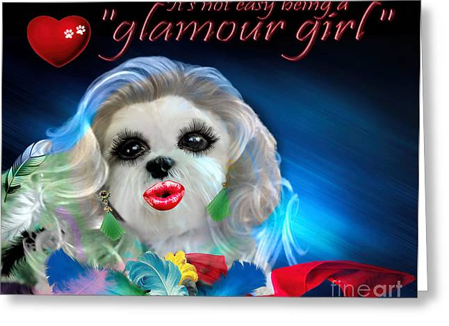 Glamour Girl-3 Greeting Card by Kathy Tarochione