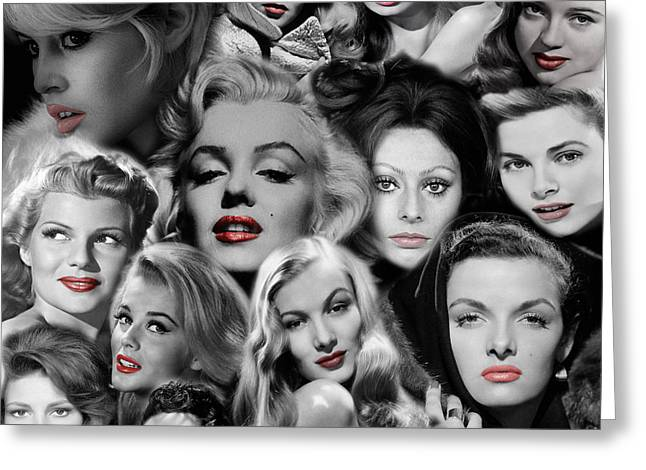 Glamour Girls 1 Greeting Card by Andrew Fare