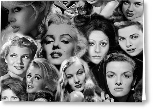 Glamour Girls 2 Greeting Card by Andrew Fare